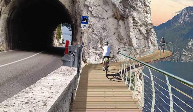 Sul Lago di Garda aprirà la pista ciclabile più spettacolare d'Europa